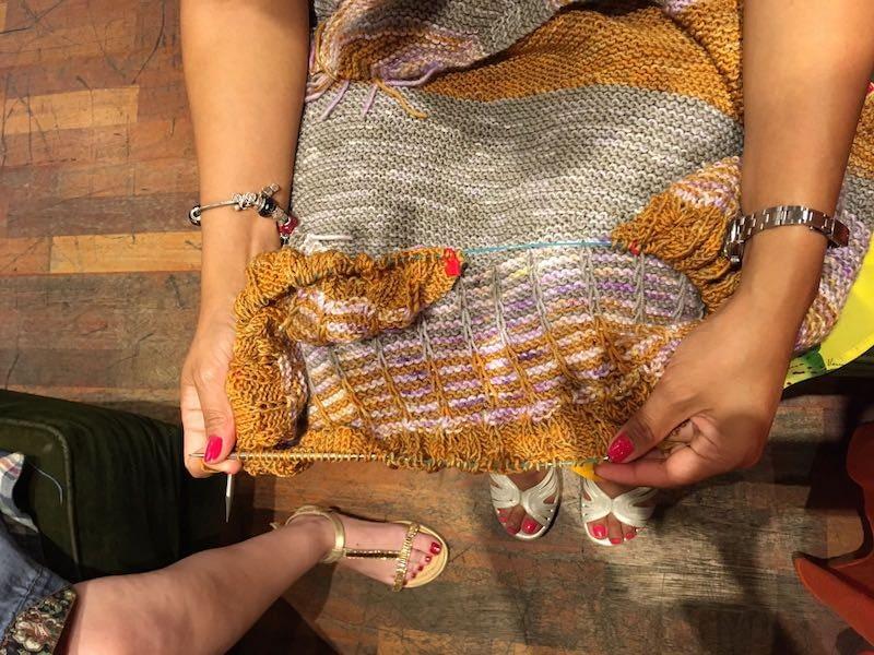 Grupo de tejedores madrid knits crónica del sábado 21 de julio 2018