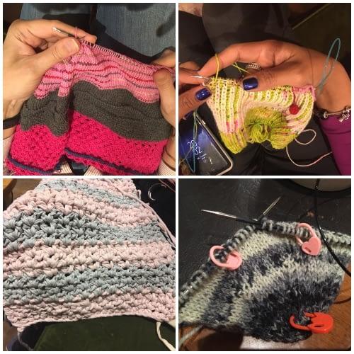 Grupo de tejedores Madrid knits crónica del sábado 12 de enero 2019