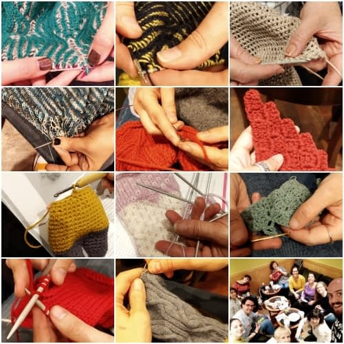 collage grupo tejedores madrid knits