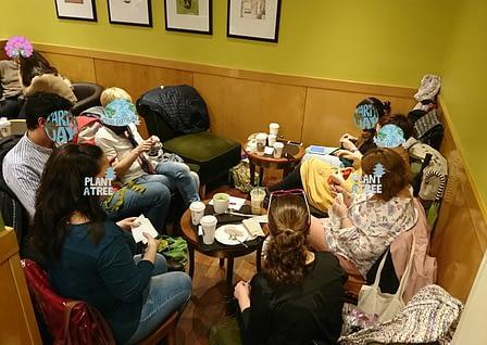 foto de grupo tejedores madrid knits